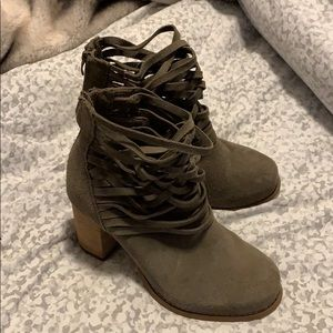 Torrid Strappy Booties size 8 W